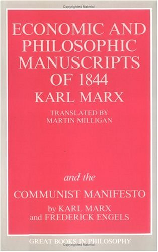 Economic and Philosophic Manuscript 9780879754464
