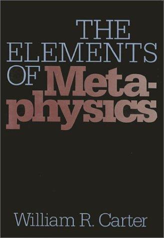 Elements of Metaphysics 9780877226192