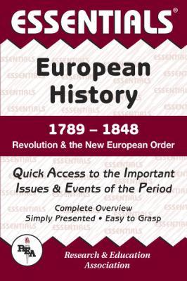 European History: 1789 to 1848