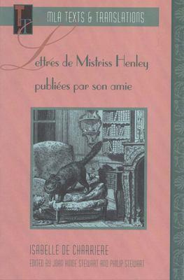 Fre-Lettres de Mistriss Henley 9780873527750