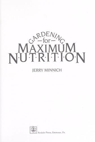 Gardening for Maximum Nutrition