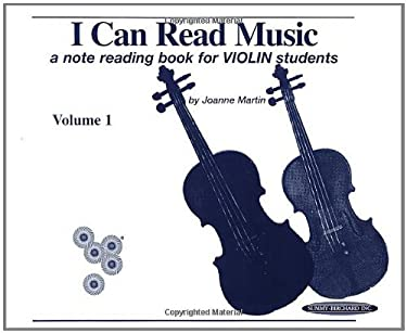 I Can Read Music, Vol 1: Violin 9780874874396