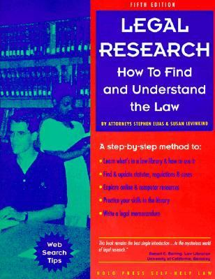 Legal Research: How to Find and Understand the Law 9780873374019
