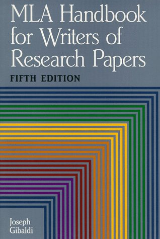 MLA Handbook for Writers of Research Papers 9780873529754