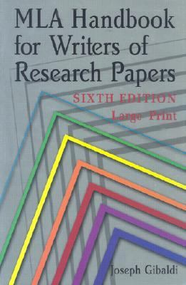 MLA Handbook for Writers of Research Papers 9780873529877