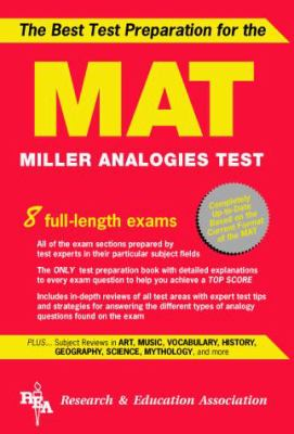 Mat -- The Best Test Preparation for the Miller Analogies Test 9780878918645