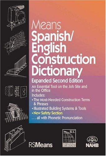 Means Spanish/English Construction Dictionary/Means Diccionario Ingles/Espanol de La Construccion