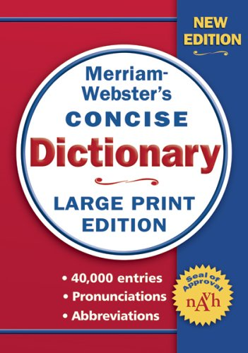 Merriam-Webster Concise Dictionary 9780877796442