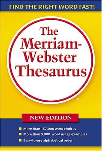 Merriam Webster Thesaurus 9780877796374