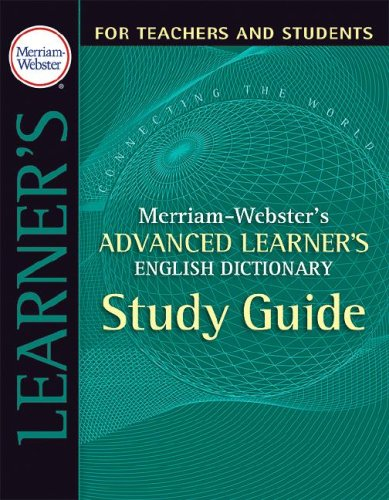 Merriam-Webster's Advanced Learner's English Dictionary 9780877795520