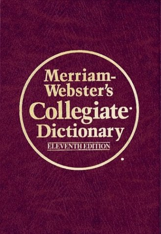 Merriam- Webster's Collegiate Dictionary (Leather-Look): Leather-Look Hardcover, Thumb-Notched with Win/Mac CD-ROM 9780877798101