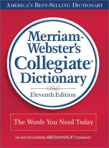 Merriam-Webster's Collegiate Dictionary 9780877798088