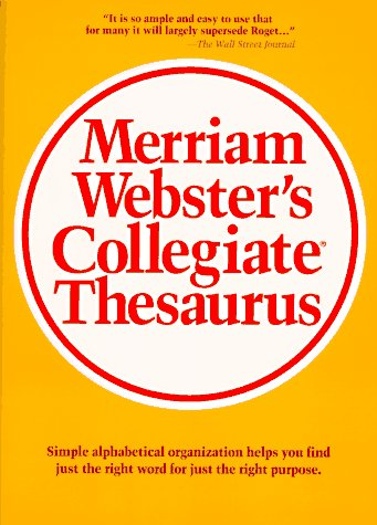 Merriam-Webster's Collegiate Thesaurus 9780877791690