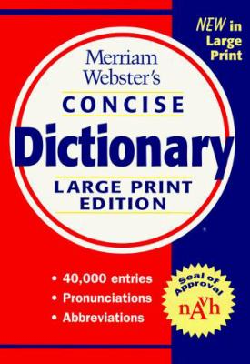 Merriam-Webster's Concise Dictionary, 9780877796244