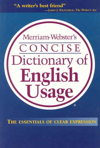 Merriam-Webster's Concise Dictionary of English Usage 9780877796336