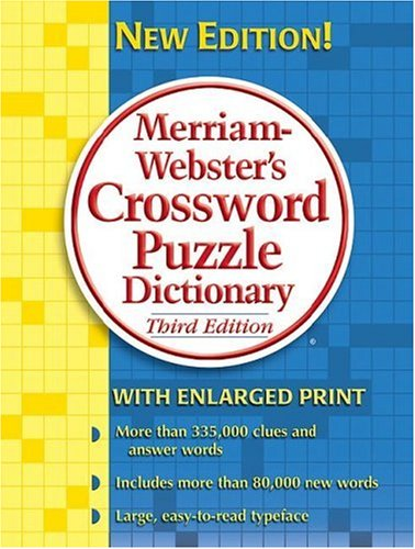 Merriam-Webster's Crossword Puzzle Dictionary 9780877796398