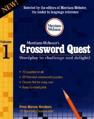 Merriam-Webster's Crossword Quest, Volume 1 9780877796534