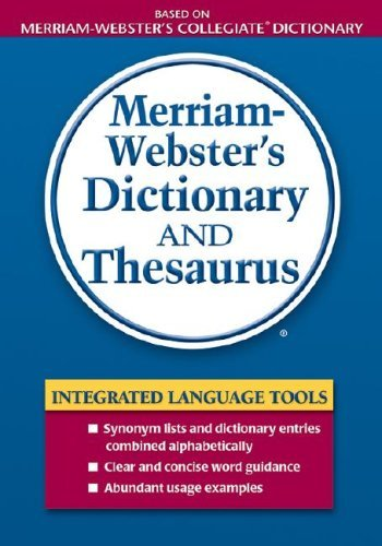 Merriam-Webster's Dictionary and Thesaurus 9780877796404