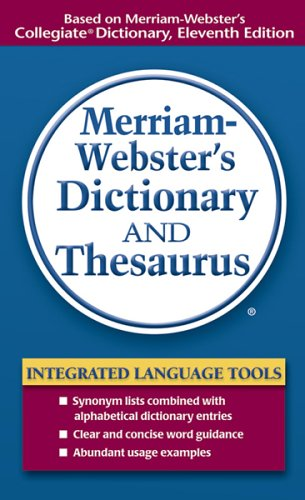 Merriam-Webster's Dictionary and Thesaurus 9780877798514