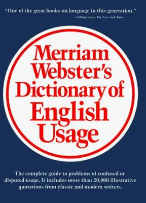 Merriam-Webster's Dictionary of English Usage 9780877791324