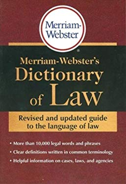Merriam-Webster's Dictionary of Law 9780877797197