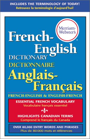 Merriam-Webster's French-English Dictionary 9780877791669