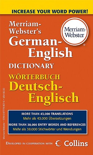 Merriam-Webster's German-English Dictionary 9780877798576
