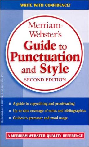 Merriam-Webster's Guide to Punctuation and Style 9780877799214