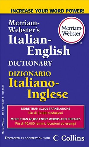 Merriam-Webster's Italian-English Dictionary 9780877798583