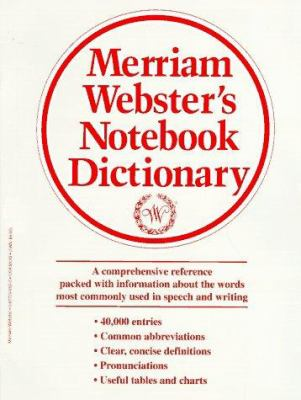 Merriam-Webster's Notebook Dictionary 9780877796503