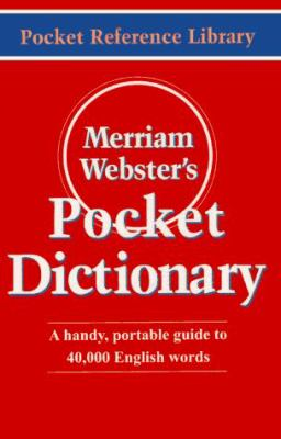 Merriam-Webster's Pocket Dictionary 9780877795001