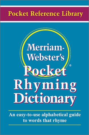 Merriam Webster's Pocket Rhyming Dictionary 9780877795162