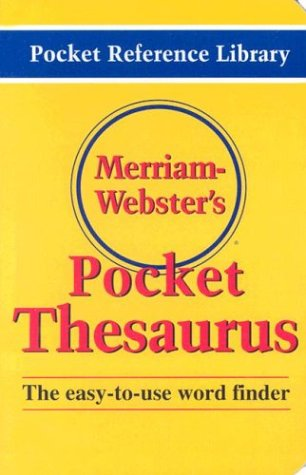 Merriam-Webster's Pocket Thesaurus 9780877795247