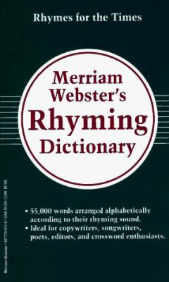 Merriam-Webster's Rhyming Dictionary 9780877799139