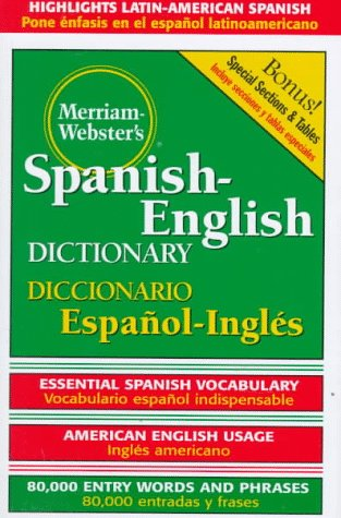 Merriam-Webster's Spanish-English Dictionary 9780877791652