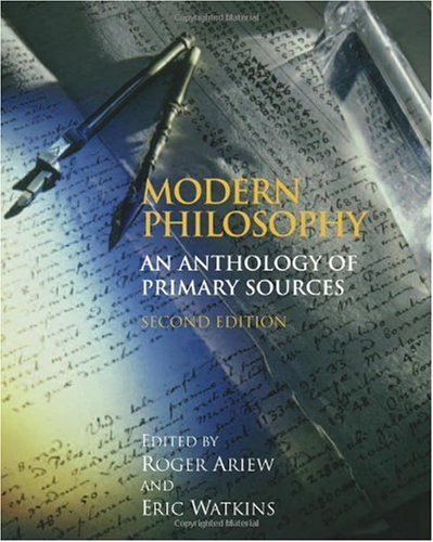 Modern Philosophy: An Anthology of Primary Sources 9780872209787