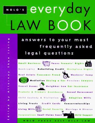 Nolo's Everyday Law Book 9780873373524
