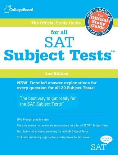 The Official Study Guide for All SAT Subject Tests [With 2 CDROMs] 9780874479751