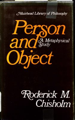 Person and Object: A Metaphysical Study 9780875483412