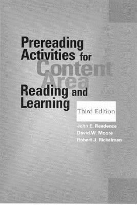 Prereading Activities for Content Area Reading and Learning, Third Edition 9780872072619