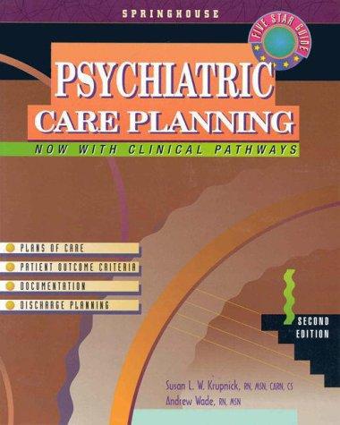 Psychiatric Care Planning 9780874349535