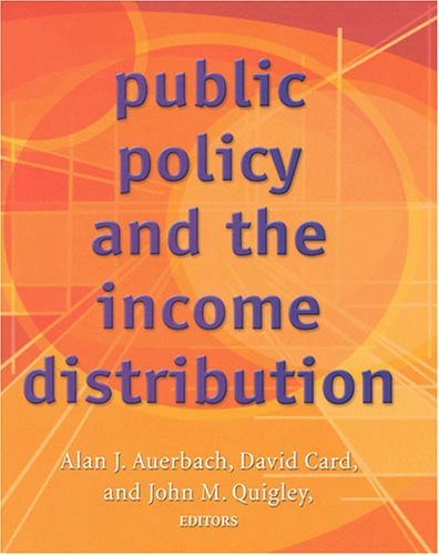 Public Policy and the Income Distribution 9780871540461