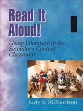 Read It Aloud! Using Literature in the Secondary Content Classroom 3842415