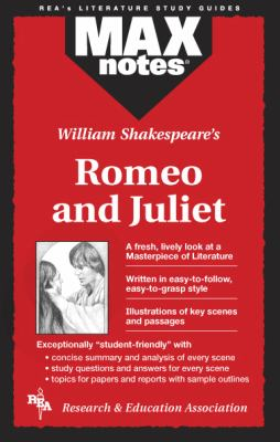 Romeo and Juliet (Maxnotes Literature Guides) 9780878919901