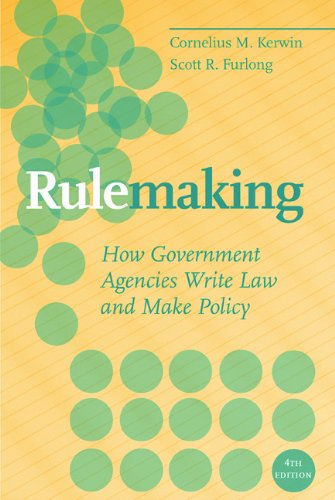 Rulemaking: How Government Agencies Write Law and Make Policy 9780872893375