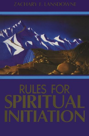 Rules for Spiritual Initiation 9780877287070