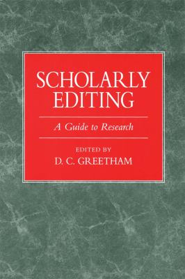 Scholarly Editing -OS 9780873525619