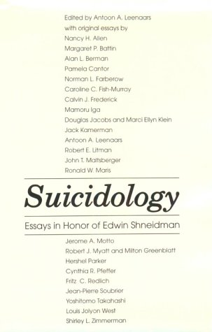 Suicidology 9780876685716