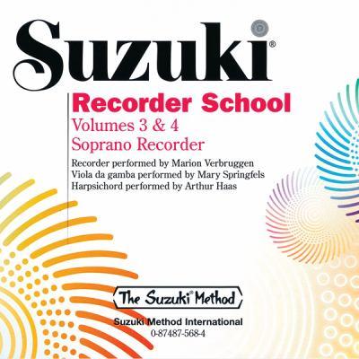 Suzuki Recorder School, Volume 3-4 9780874875683