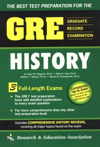 The Best Test Preparation for the GRE (Graduate Record Examination) History 9780878918850